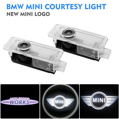 Fit BMW Mini Cree LED Projector Car Door Lights Shadow Puddle Courtesy LOGO Lamp
