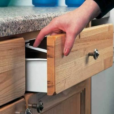 Cupboard Drawer Lock Secure Catches 6Pack Safety Baby Child Proofing#