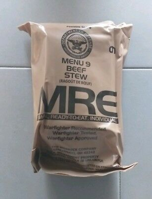 MRE US Meal-ready-to-eat Einsatzverpflegung Notration Menu 9 Beef Stew Camping