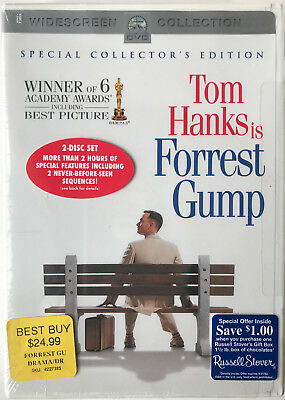 Forrest Gump Special Collector's Edition  2-Disc Widescreen NEW DVD Tom Hanks