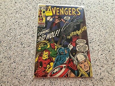 The Avengers #80 1st App Red Wolf