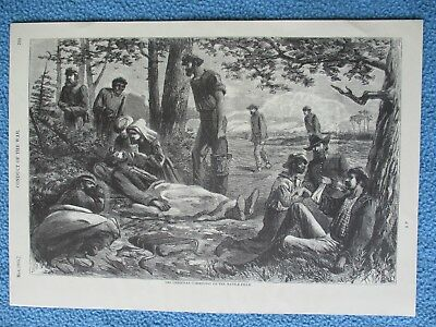 """Harper's Weekly Civil War Print - """"The Christian Commission On The Battlefield"""""""