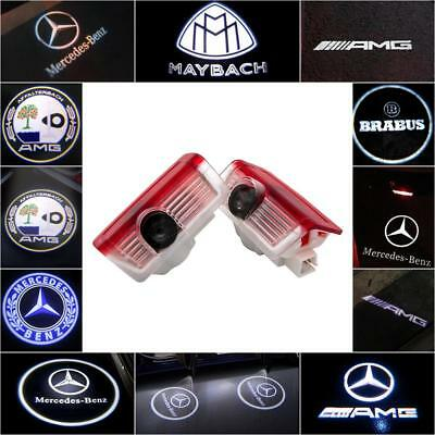Fit Mercedes Benz Cree LED Projector Car Door Light Courtesy Entrying logo light