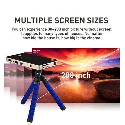 Projecteur Cinema Double Bande Full HD Smart Led Android 5.1 2.4G&5.8G Bluetooth