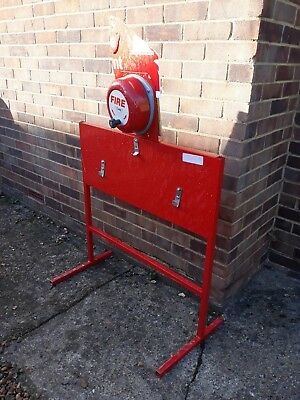 rotary fire alarm bells with stand - used