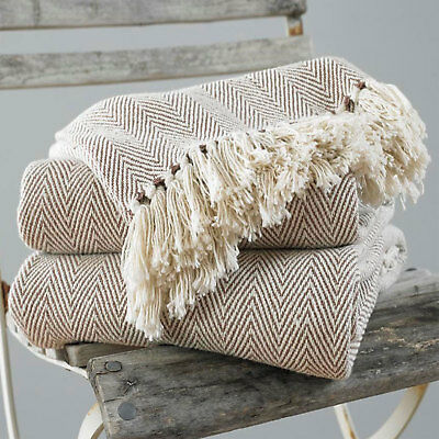 Surprising Pure Cotton Zig Zag Fringed Sofa Couch Throw Chair Bed Cover Pdpeps Interior Chair Design Pdpepsorg