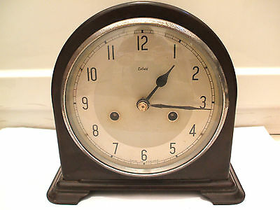 "Bakelite Case Smiths Striking Mantle Clock c1920'  7.5""H 8""W 4""D"