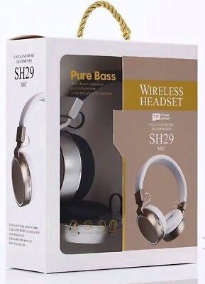 Over The Head Bluetooth Headset With Mic To Talk Over Phone With Pure Bass