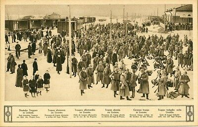 .Vintage Picture German Army in Latvia,ww1