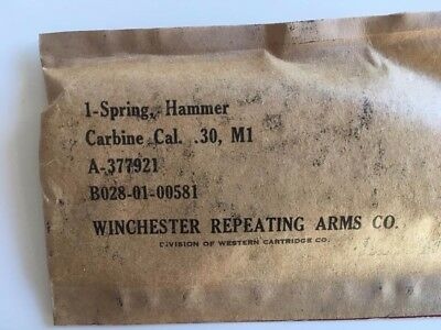 #8  WW2   M1  M2  Us Carbine SPRING hammer WINCHESTER   seal package UNUSED  NOS