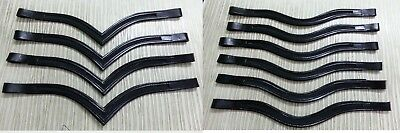 Full / Cob / Draft / Pony 8mm Empty Channel Padded Leather Browbands for Bridles
