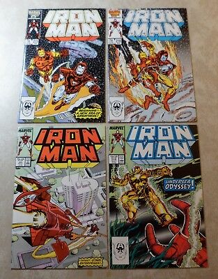 Iron Man #215 #216 #217 #218 - Marvel Comics 1987 - lot of 4 comics