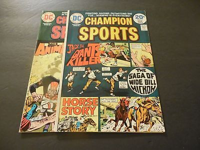 2 Issues Champion Sports #2-3 Jan & March 1974 Bronze Age DC Comics      ID:8540