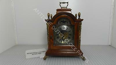 Small Walnut Warmink Time Only Table Clock With Moon