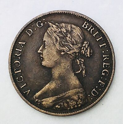 1861 Canada New Brunswick 1 One Cent Penny Coin 055