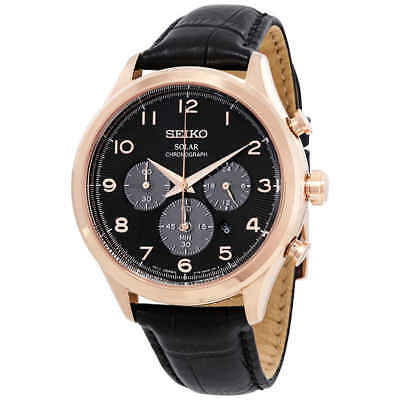 Seiko Core Solar Chronograph Black Dial Men's Watch SSC566