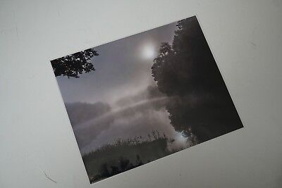 Large photograph of Greenbo Lake Fog in black and white