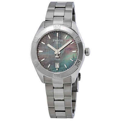 Tissot PR 100 Sport Chic Black Mother of Pearl Dial Ladies Watch