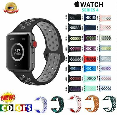 Replacement Silicone Sport Band Strap 40mm 44mm For Nike+ Apple iWatch Watch 4