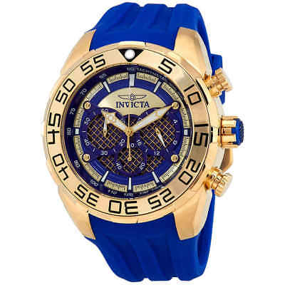 Invicta Speedway Chronograph Blue Dial Blue Silicone Men's Watch 26302