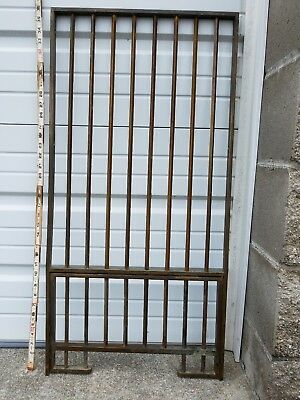 Antique 1870-1910 Brass BANK TELLER OR POSTAL OPENING WINDOW GRILL CAGE