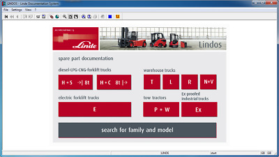 Linde Lindos 2014 Parts Catalog EPC for Linde ForkLift Trucks