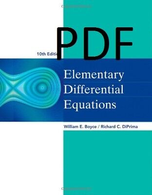 (PDF) Elementary Differential Equations [10 ed.]E-B00K&AUDI0B00K||E-MAILED