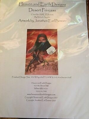 Heaven and Earth Designs Counted Cross Stitch Chart / Pattern - Desert Princess
