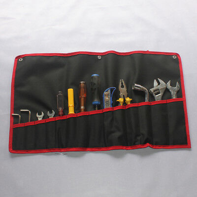 14-Pocket Oxford Spanner Wrench Tool Roll Up Storage Tidy Bag Organizer Case