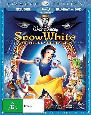 Snow White And The Seven Dwarfs (Blu-ray) Diamond Edition NEW + SEALED