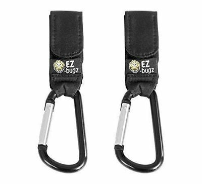 EZ-Bugz Buggy Clips. Hook your shopping & bags safely On Pushchair, 2 Pack