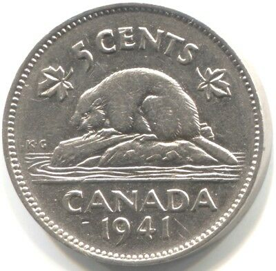 1941 CANADA FIVE CENTS Coin