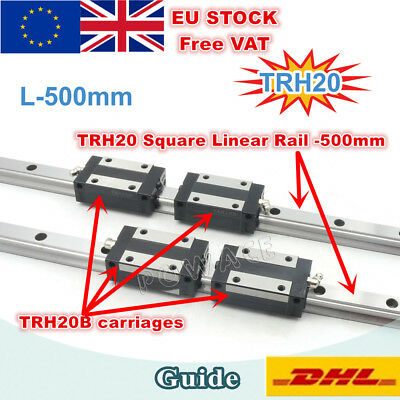 【Ger】Linear Rail Guide Square TRH20 500mm for CNC Router Machine+TRH20B Carriage