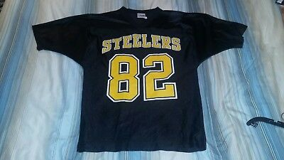 272cf331939 Yancey Thigpen #82 Pittsburgh Steelers Replica Football Jersey Medium