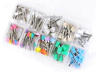 100pcs Assorted Disposable Prophy Brush Cups Dental Nylon Rubber Polishing Tool