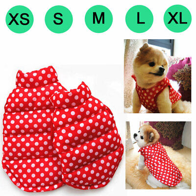 Dog Clothes Pet Winter Red Vest Cost Costumes Puppy Jacket Apparel For Large Dog