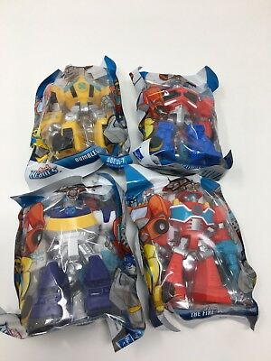 """New Playskool 3.5"""" Transformers Rescue Bots Complete Set Of 4"""