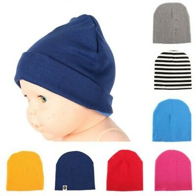 Unisex Newborn Child Baby Soft Stretch Cotton Hat Boys Girls Infant Toddler Cap