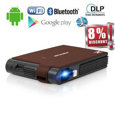 Portable Mini DLP 3D Projector Airplay Miracast HD Movie Meeting HDMI WIFI Party