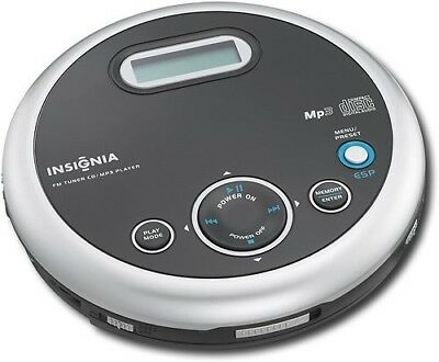 Insignia Portable CD Player with FM Tuner and MP3 Playback - Black