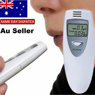 New Portable MINI Digital LCD Alcohol Breath Tester Analyzer Breathalyzer In AMU