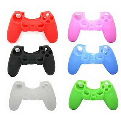 Soft Silicone Rubber Skin Grip Cover Case for PlayStation 4 PS4 Controller 1Pc