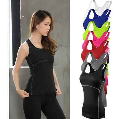 New Womens Sports Vest Fitness Exercise Gym Yoga Tank Tops Singlet Loose T Shirt