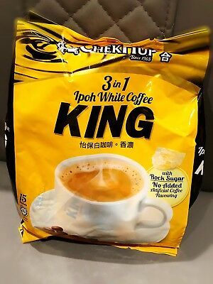 Malaysia Chek Hup 3 in 1 Ipoh White Coffee - King *15 sachets*