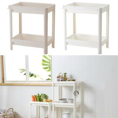 2 Tier Bathroom Kitchen Storage Shower Shelf Holder Rack Organizer Plastic