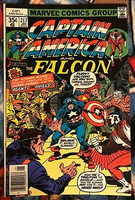 Marvel CAPTAIN AMERICA 217 FN+ ***$3.98 UNLIMITED SHIPPING***1st Quasar