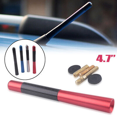 """4.7""""Red Carbon Car Aerial Bee Sting Mast Antenna Ariel Arial Mini Decor Stubby"""
