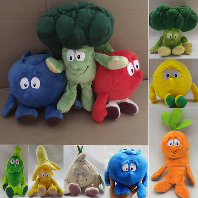 Fruit & Vegetables Soft Plush Toys Child Kids Pretend Role Play Toy Xmas Gifts