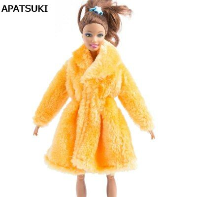 """Orange Winter Wear Outfits Clothes For 11.5"""" Doll Coat Doll Dresses 1/6 Kids Toy"""