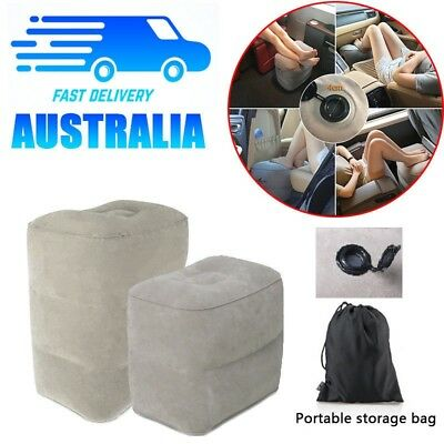 TRAVEL Inflatable Leg Foot Rest Footrest Pillow Recliner Relax Cushion Pad